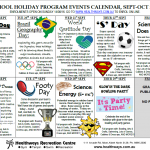 School Holiday Program Sept-Oct 2016